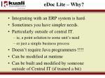 edoc lite why