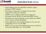 embedded mode 2 3 x