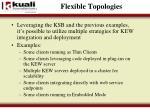 flexible topologies