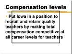compensation levels