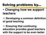 solving problems by1