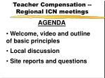 teacher compensation regional icn meetings