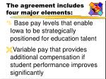 the agreement includes four major elements