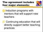 the agreement includes four major elements1