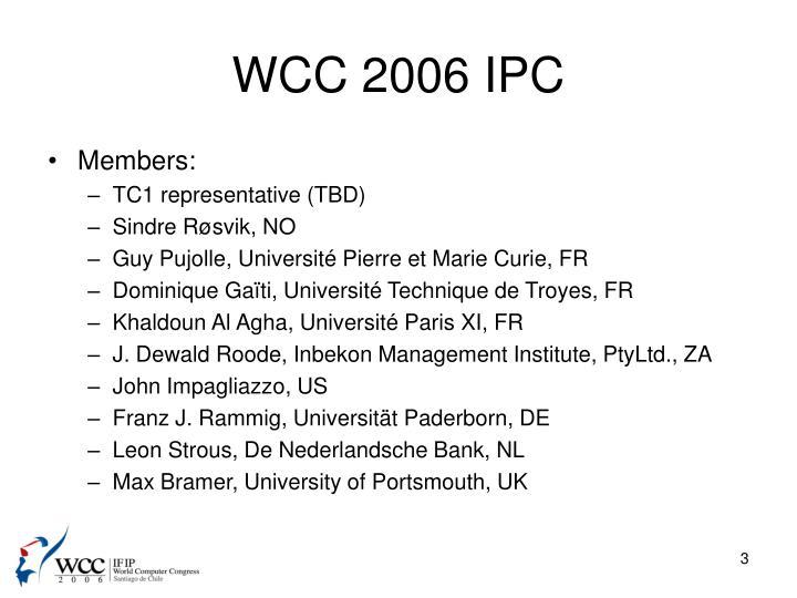 Wcc 2006 ipc1