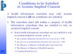 conditions to be satisfied to assume implied consent