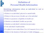 definition of personal health information