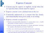 express consent
