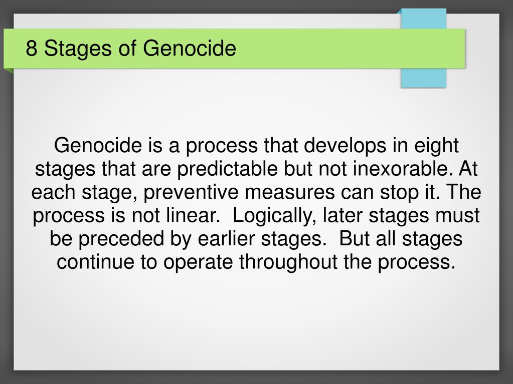 eight stages of genocide holocaust