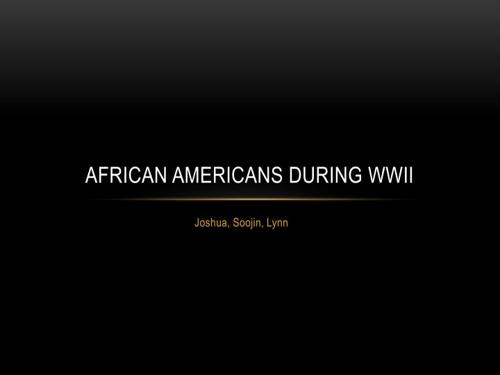 african americans during wwii n.