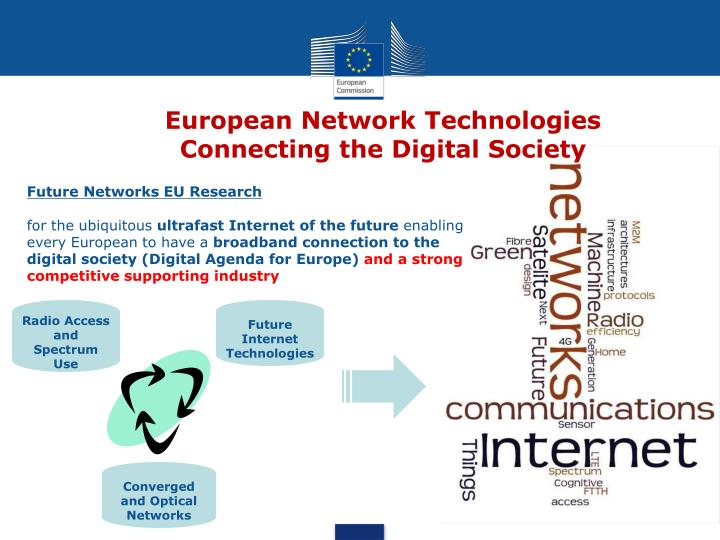 european network technologies connecting the digital society n.