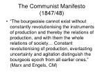 the communist manifesto 1847 48