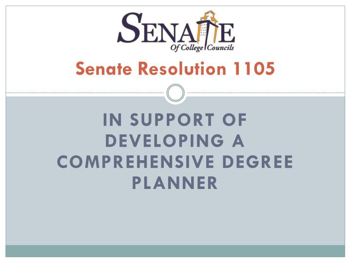 senate resolution 1105 n.