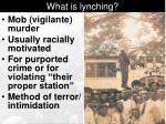 what is lynching