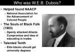 who was w e b dubois