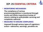 icp 25 essential criteria2