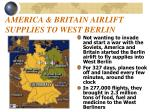 america britain airlift supplies to west berlin