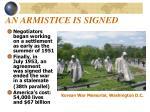 an armistice is signed