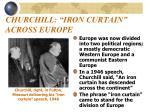 churchill iron curtain across europe