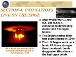 section 4 two nations live on the edge