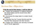 section one objectives