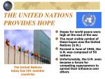 the united nations provides hope