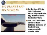u 2 planes spy on soviets