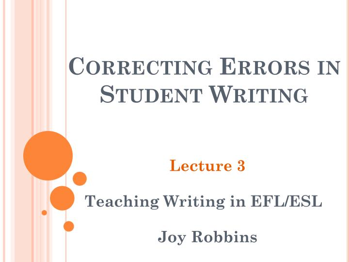 correcting errors in student writing n.