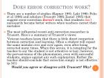 does error correction work