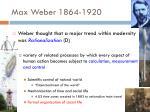 max weber 1864 19201