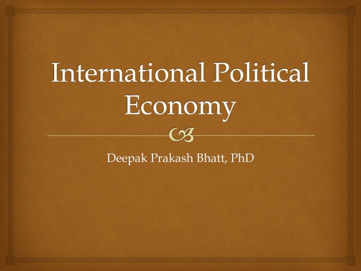 international political economy n.