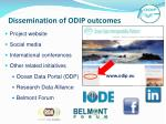 dissemination of odip outcomes
