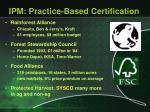 ipm practice based certification