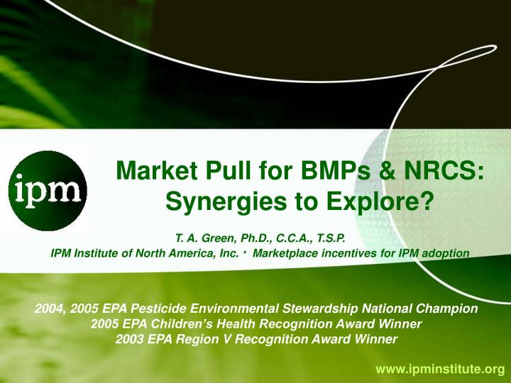 market pull for bmps nrcs synergies to explore n.
