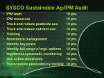 sysco sustainable ag ipm audit