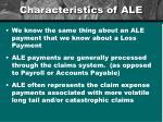 characteristics of ale