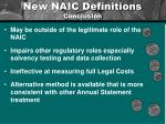 new naic definitions conclusion