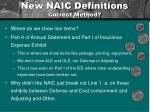 new naic definitions correct method