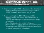 new naic definitions summary of changes