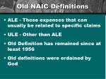 old naic definitions