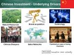 chinese investment underlying drivers