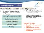 what will be funded in 2009 by the iee programme
