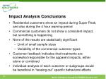 impact analysis conclusions