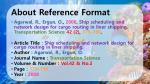 about reference format