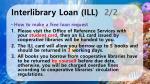 interlibrary loan ill 2 2