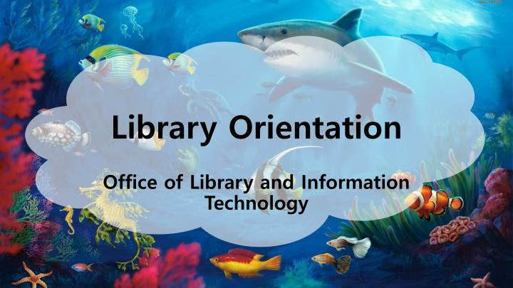 library orientation n.