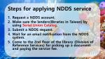 steps for applying ndds service