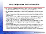 fully cooperative intersection fci