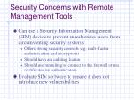 security concerns with remote management tools