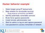 hacker behavior example